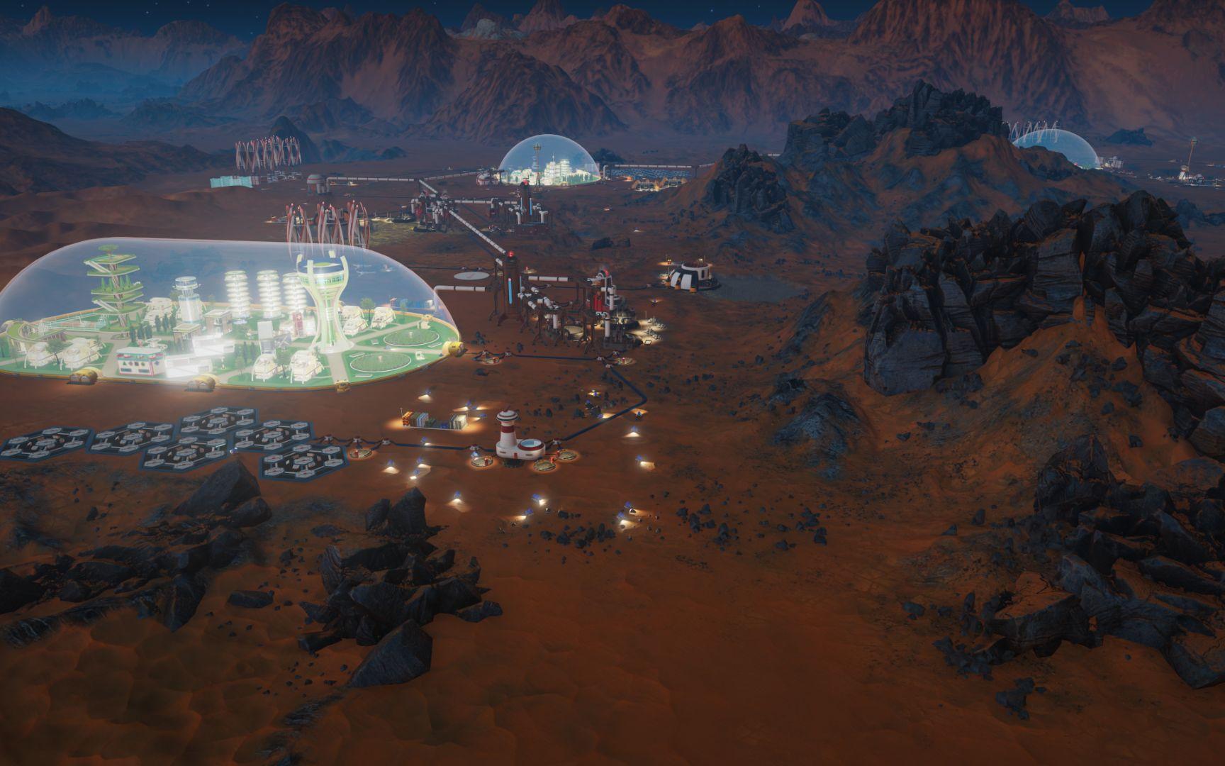 une colonie développée dans surviving mars