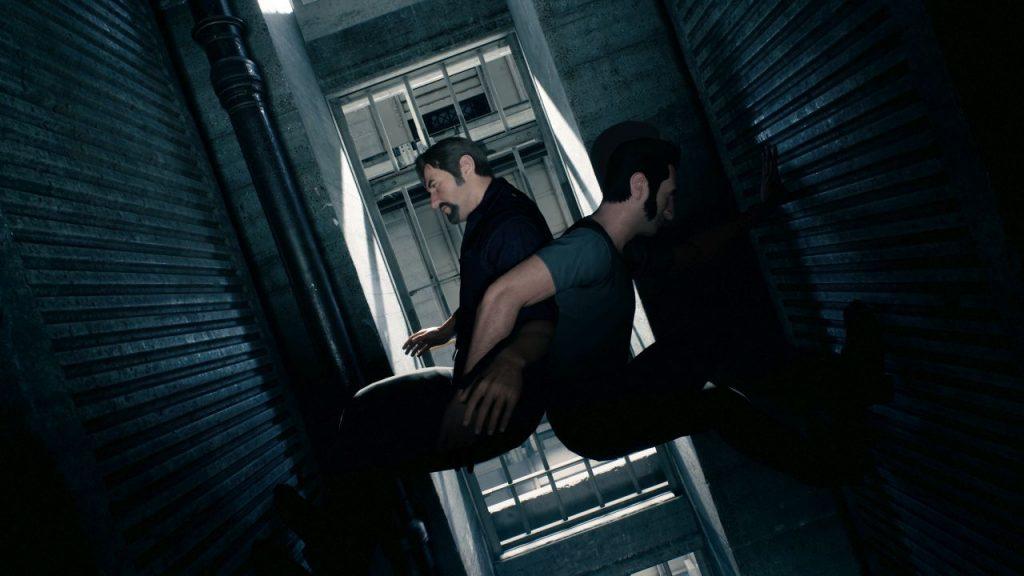 Coopération pour escalader entre 2 murs dans A Way Out