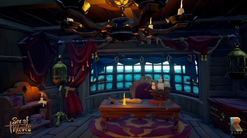 Cabine du capitaine dans Sea of Thieves