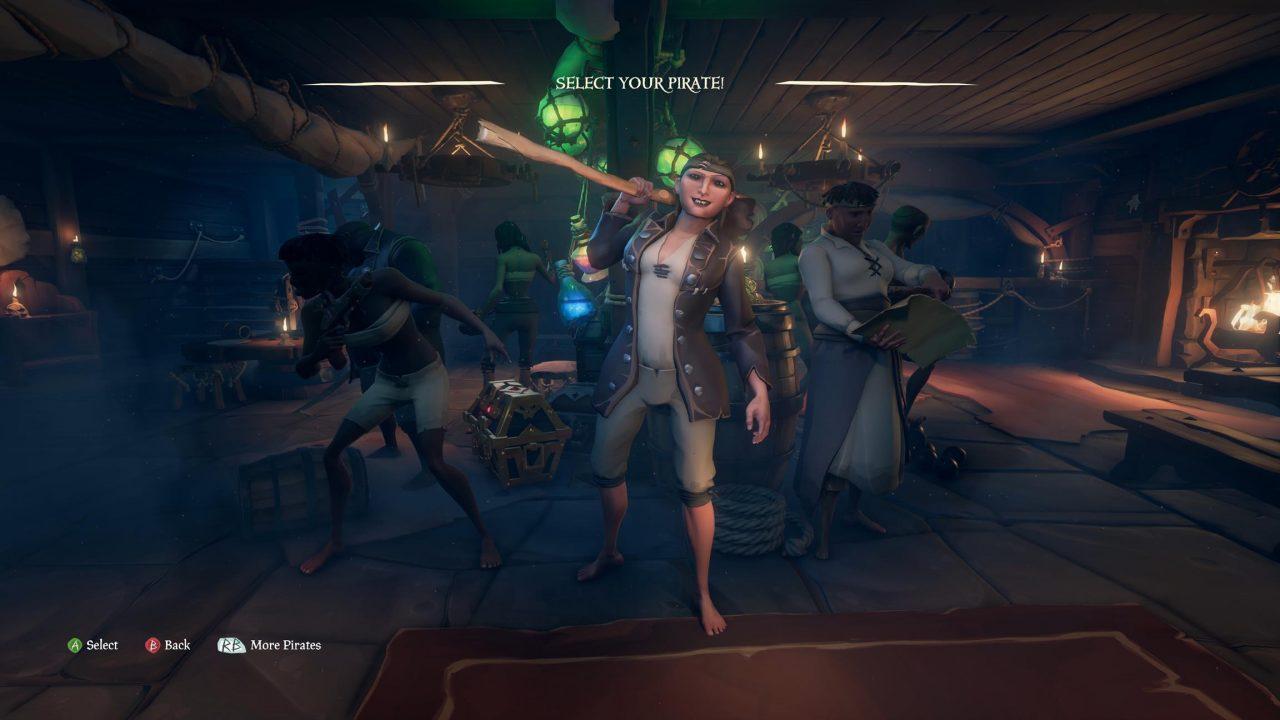 Création de personnage dans Sea of Thieves
