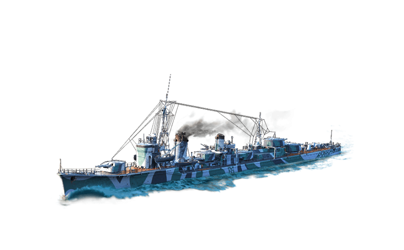 Destroyer Asashio dans World of Warships